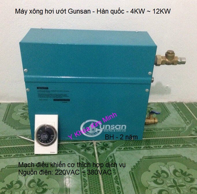 Thiết kế lắp đặt máy xông hơi ướt nóng massage Gunsan Hàn Quốc Y Khoa Kim Minh