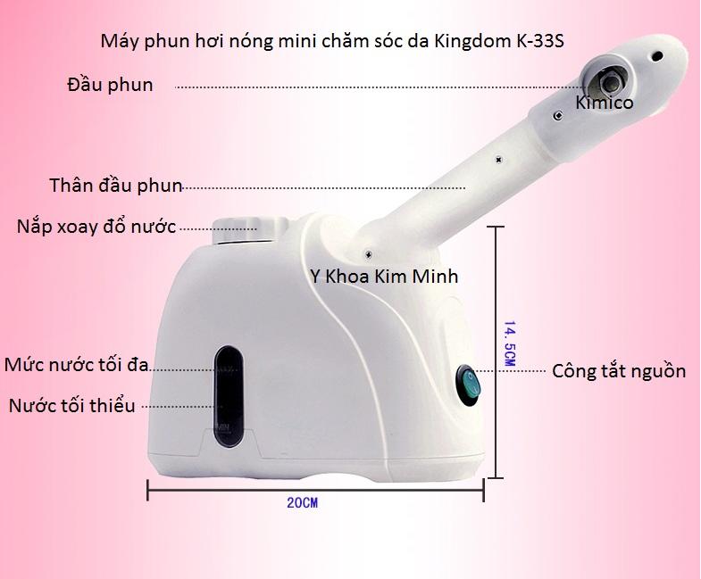 Máy xông hơi mini Kingdom K-33s