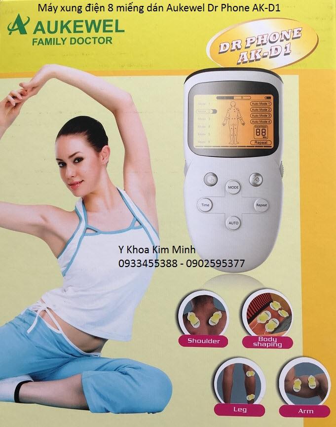 Aukewel Dr Phone AK-D1 may xung dien 8 mieng dan moi nhat hien nay Y Khoa Kim Minh cung cap