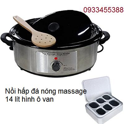 Nồi luộc đá nóng massage 14 lít hình ô van bán tại Y khoa Kim Minh 0933455388