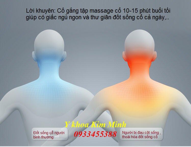 Nguyen nhan dau cot song co va cach dieu tri bang goi massage dien dieu tri dau cot song co C17 - Y khoa Kim Minh