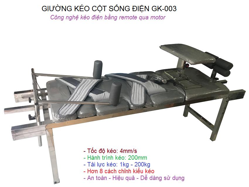 Nơi bán giường kéo giãn cột sống lưng cổ bằng điện GK-003 tại Tp Hồ Chí Minh - Y Khoa Kim Minh 0933455388