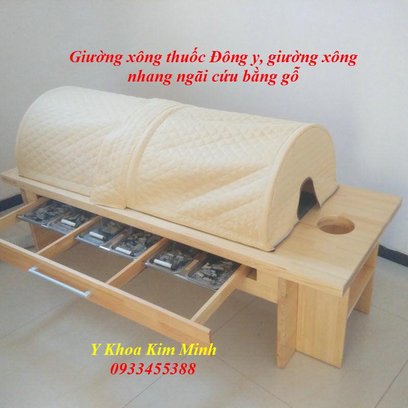 Nơi bán giường xông thuốc Đông y chữa bệnh làm bằng gỗ - Y Khoa Kim Minh 0933455388