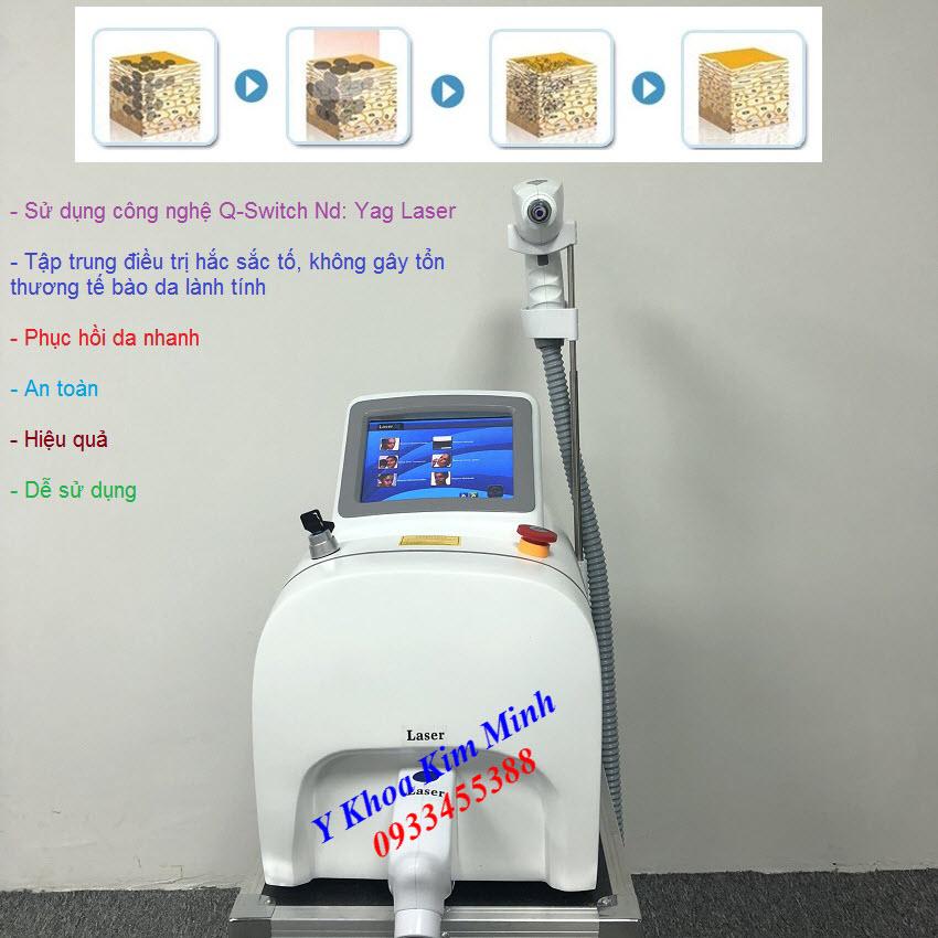 Thiết bị thẩm mỹ | Máy laser xóa xăm trị nám trẻ hóa da Yag Laser SKM-219  bán tại Tp Hồ Chí Minh - Y Khoa Kim Minh 0933455388