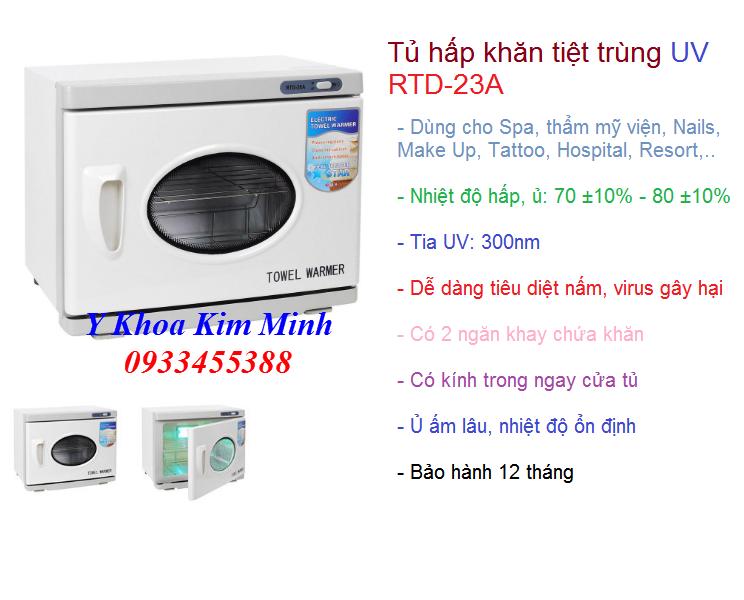 Nơi bán tủ hấp khăn tiệt trùng có UV RTD-23A tại Tp Ho Chi Minh - Y Khoa Kim Minh 0933455388
