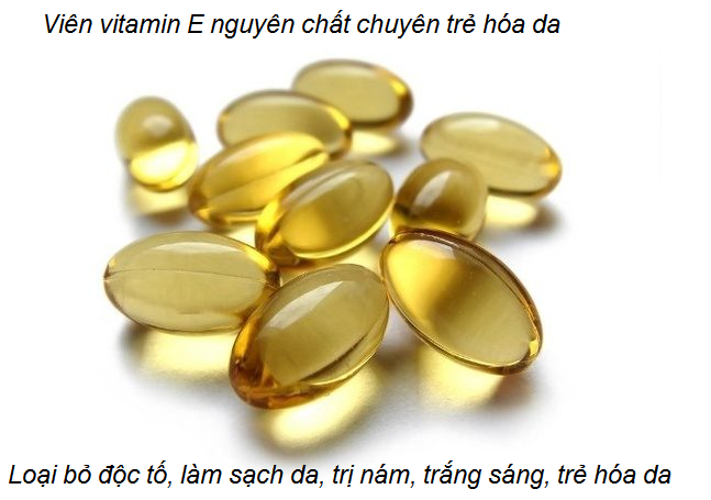 Noi ban vien vitamin E Spring Valley giải độc, trị nám, trắng sáng, trẻ hóa da - Y Khoa Kim Minh 0933455388