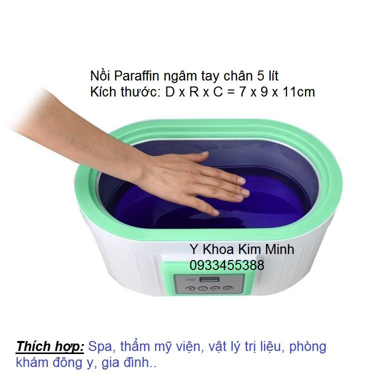 Kim Minh ban noi nau sap paraffin 5 lit ngam tay chan thuoc thao duoc tai tp hochiminh