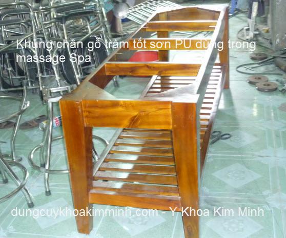Khung giường massage Spa gỗ tràm loại tốt Kim Minh