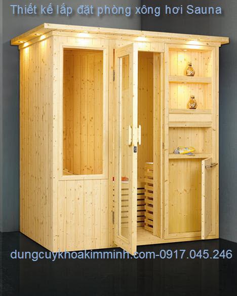 Thiết kế lắp đặt phòng xông hơi nóng Sauna