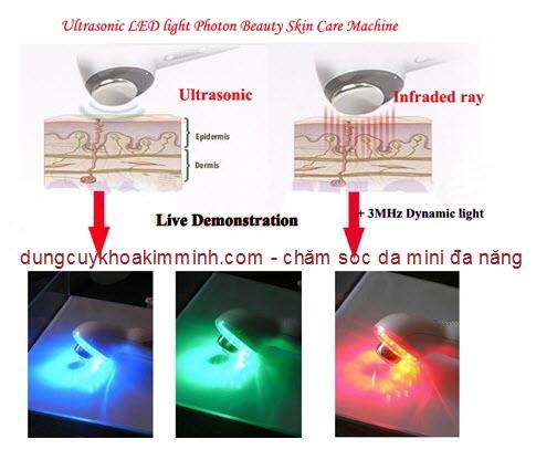 Máy chăm sóc da đa năng mini Photon ánh sáng điều trị bioled