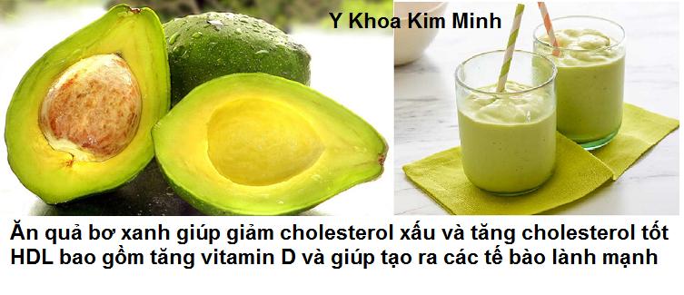 Dung qua bo giup giam cholesterol xau LDL va tang cholesterol tot HDL Y Khoa Kim Minh