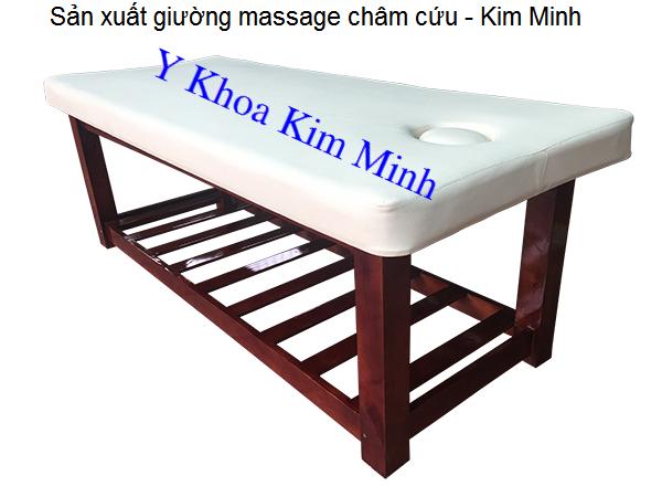 Giuong massage cham cuu san xuat ban tai Cong ty Y Khoa Kim Minh