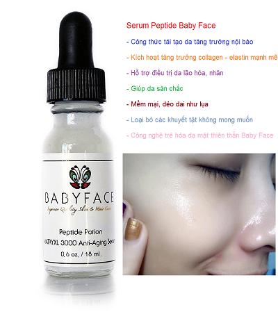 Serum te bao goc Baby Face nhap My trang sang min bong da mat nhu em be - Y khoa Kim Minh