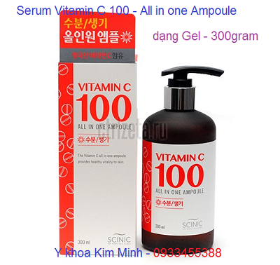 Serum vitamin C 100 trắng mịn da tức thì 300ml nhập Hàn Quốc - Y khoa Kim Minh