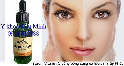 Serum Vitamin C cang bong sang da giam dom nau tri nam nhap khau Phap