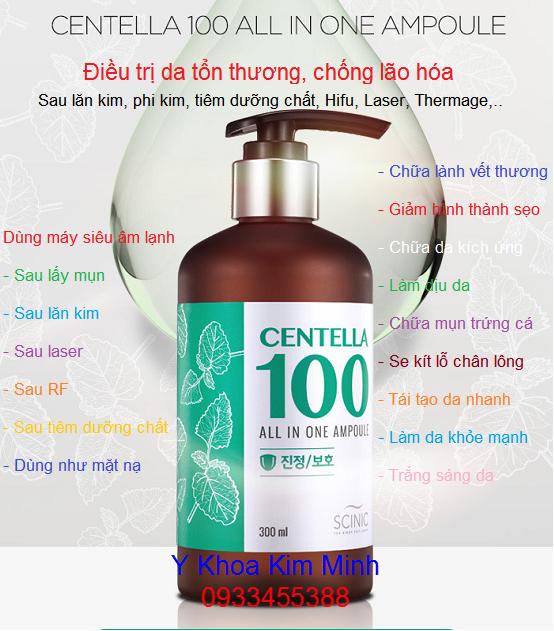 Serum Centella Hàn Quốc 300ml chuyên điều trị da dị ứng, viêm mụn, làm dịu da sau lăn kim, lấy mụn, tiêm mesogun bán tại Y Khoa Kim Minh 0933455388