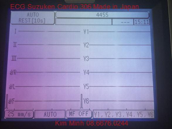 Máy diện tim 3 cần Nhật bản Suzuken Cardio 306