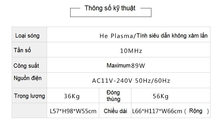 TSKT máy thẩm mỹ điều trị chăm sóc da He Plasma - Y Khoa Kim Minh 0933455388