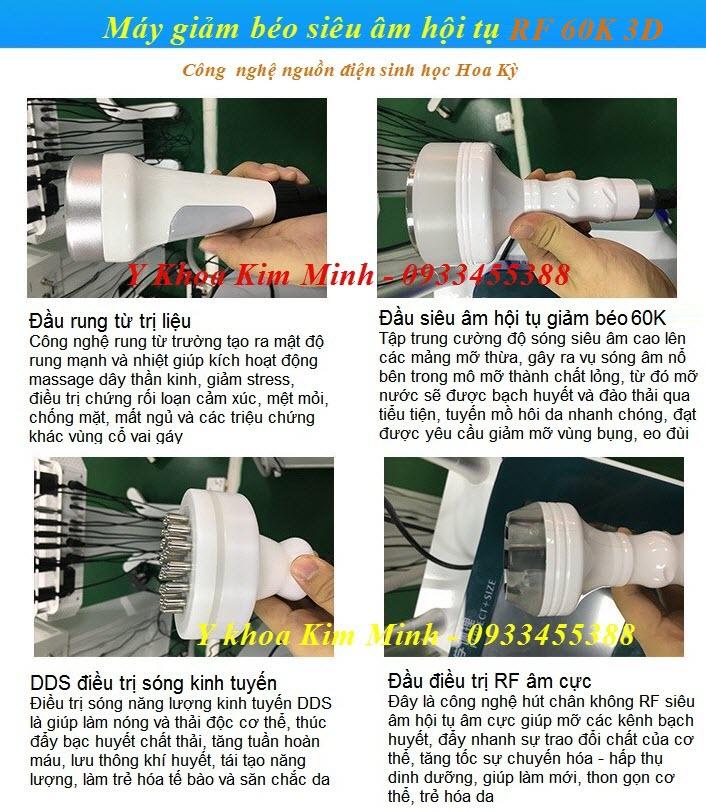 Công nghệ điều trị giảm béo siêu nhanh RF 60K 3D - Y Khoa Kim Minh 0933455388