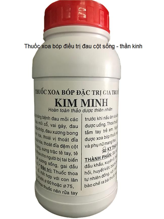 Thuốc xoa bóp Đông y làm mềm giãn gân, giảm đau khớp kết hợp với máy xung kích điều trị 2 đầu phát - Y khoa Kim Minh