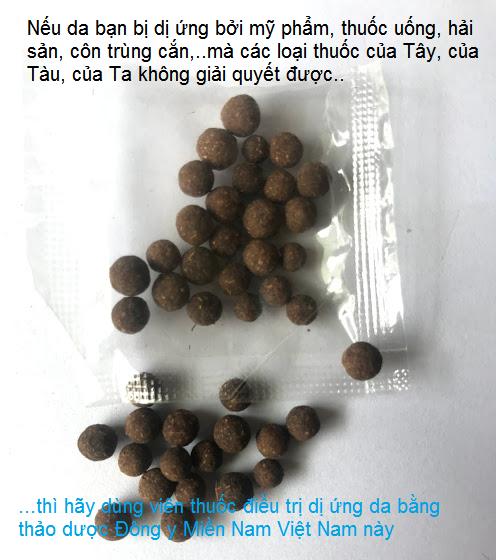 Viên thuốc thảo dược Đông y Miền Nam Việt Nam chữa da dị ứng, phong ngứa, phát ban, nổi mề đây nổi khắp người - Y Khoa Kim Minh