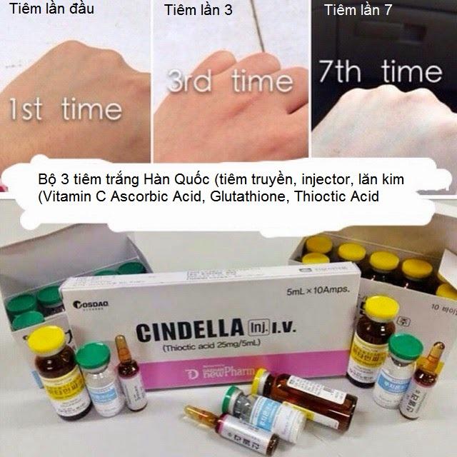Tiem trang Han quoc Vitamin C, Glutathione, Thioctic Axit Y Khoa Kim Minh phan phoi ban gia si