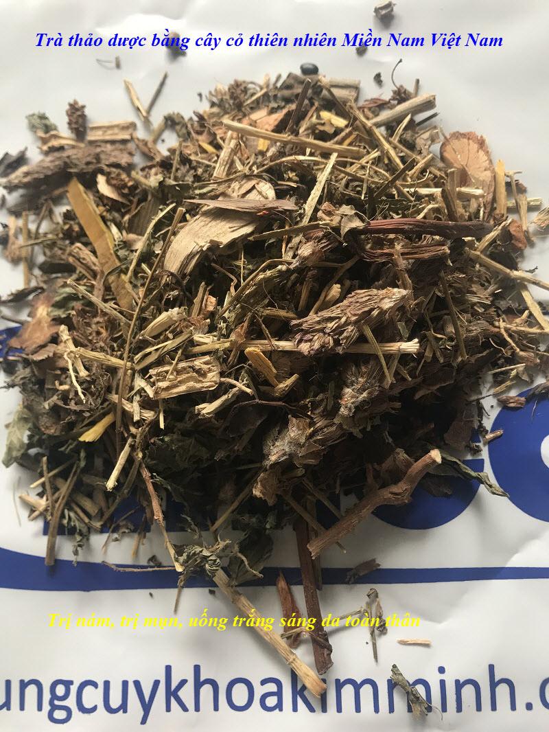 Trà thảo dược trị nám uống trắng da toàn thân bằng lá cây, cây thuốc trong Miền Nam Việt Nam - Y khoa Kim Minh 0933455388