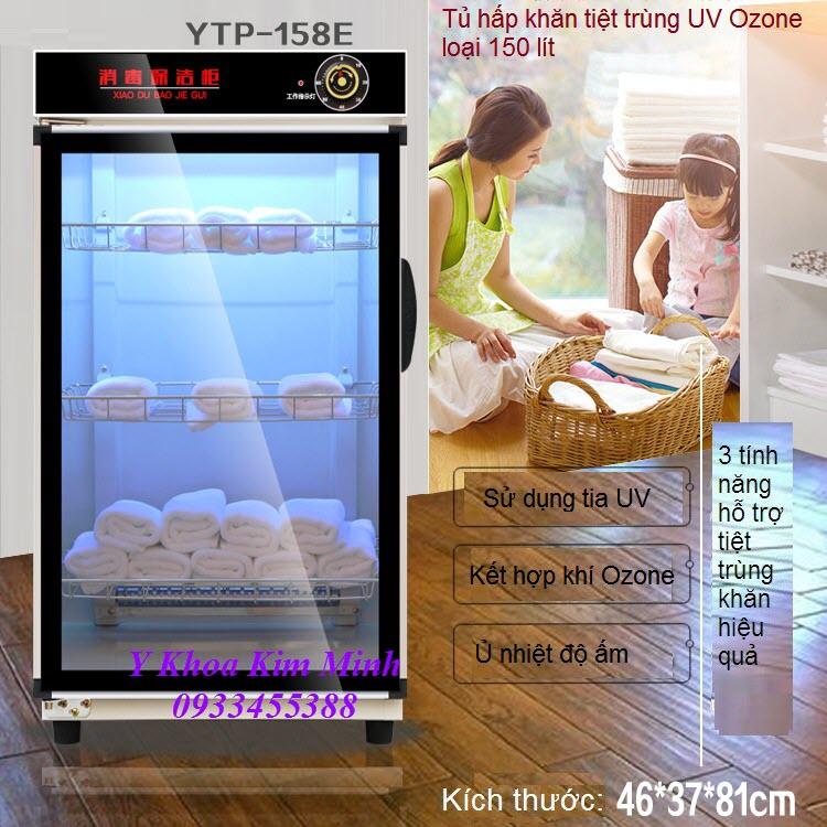 Tu hap tiet trung khan UV Ozone YTP-158E 150 lít - Y khoa Kim Minh ban tai Tp Ho Chi Minh