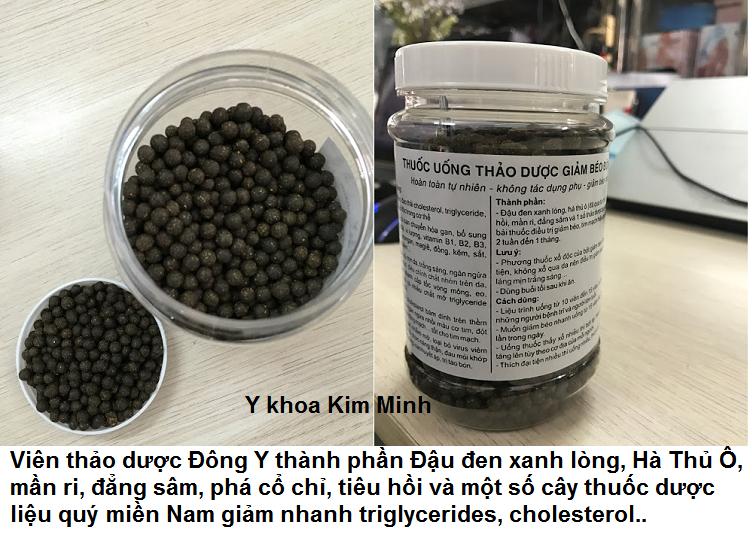 Vien giam beo dong y thao duoc dong y giam cholesterol, triglycerides, mo mau, tieu duong, ngua tai bien ung thu Y Khoa Kim Minh