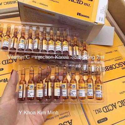 Vitamin C injetion 2ml Hàn Quốc - Y khoa Kim Minh 0933455388