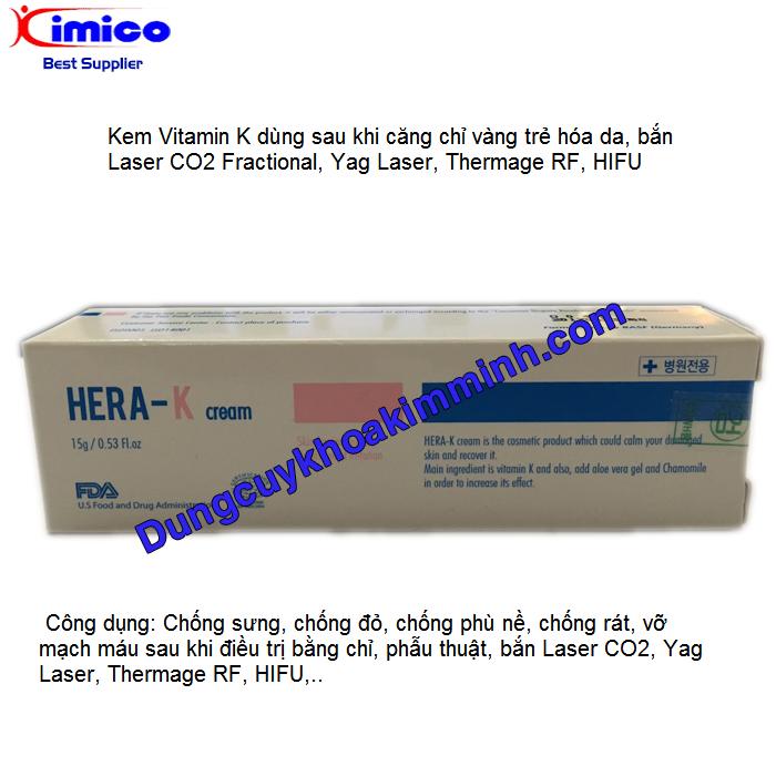 Kem Vitamin K chốn phù nề, chống sưng, chống đỏ, chống vỡ mạch máu sau khi bắn laser yag, Fractional Laser CO2, Thermage, HIFU Y Khoa Kim Minh