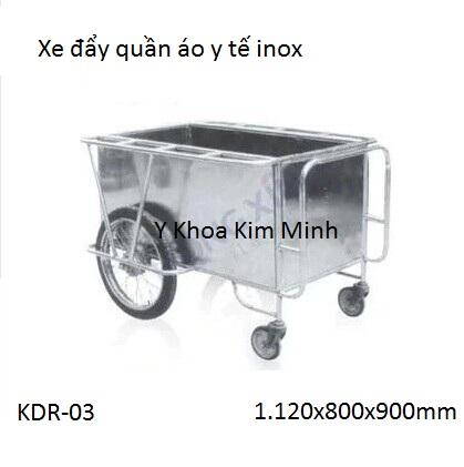 Xe đẩy quần áo bẹnh viên, quần áo bệnh nhân inox SUS-304