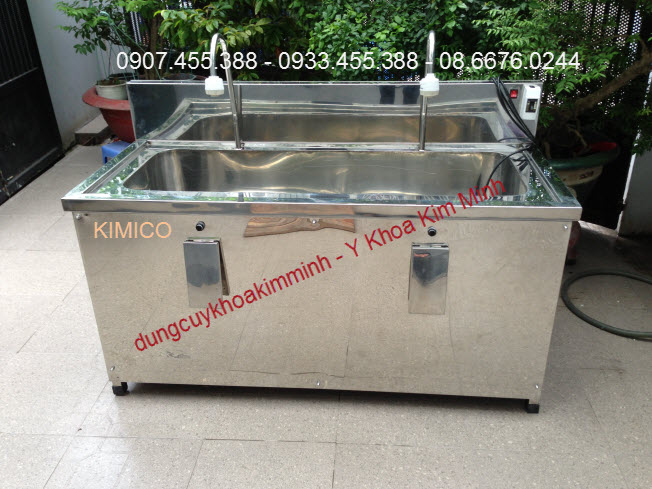 Bồn rửa tay phẩn thuật phòng mổ 2 vòi tự động Việt Nam