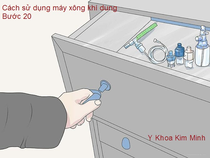 Máy xông khí dung: sửa sạch, để nơi thoáng sạch cho khô