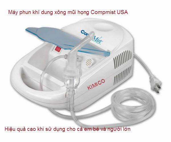 Cách sử dụng máy xông mũi họng dùng thuốc Compmist