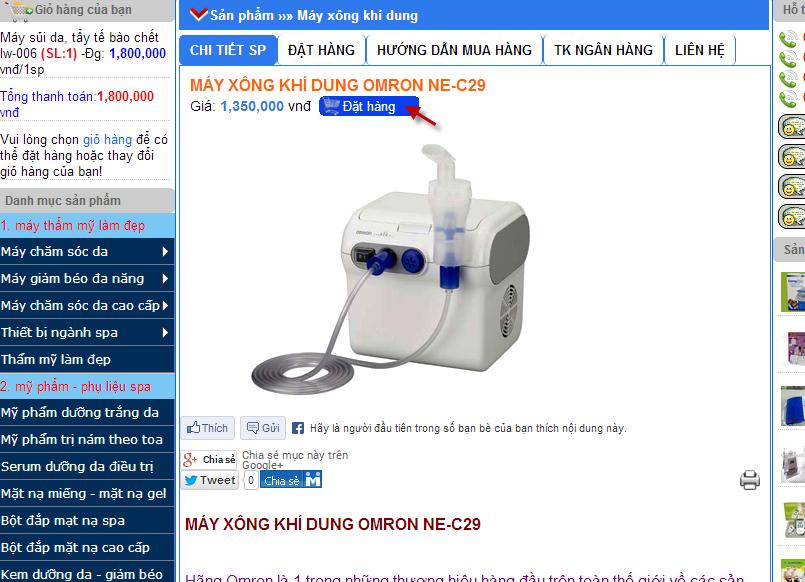 hướng dẫn mua hàng online trực tuyến từ website dungcuykhoakimminh