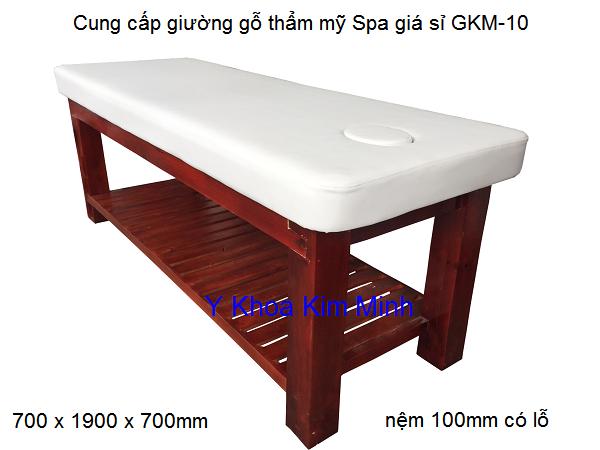 Cung cap giuong go massage tham my spa Y Khoa Kim Minh