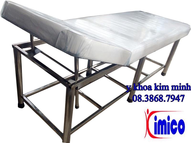 Giường massage thẩm mỹ spa inox