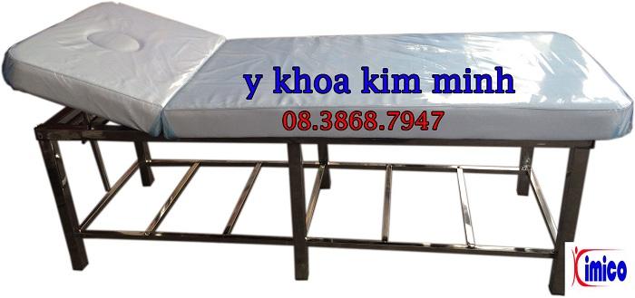 Giuong massage inox dung cho spa