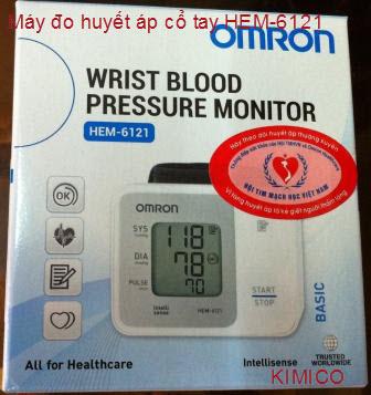 Máy huyết áp cổ tay Omron Hem-6121