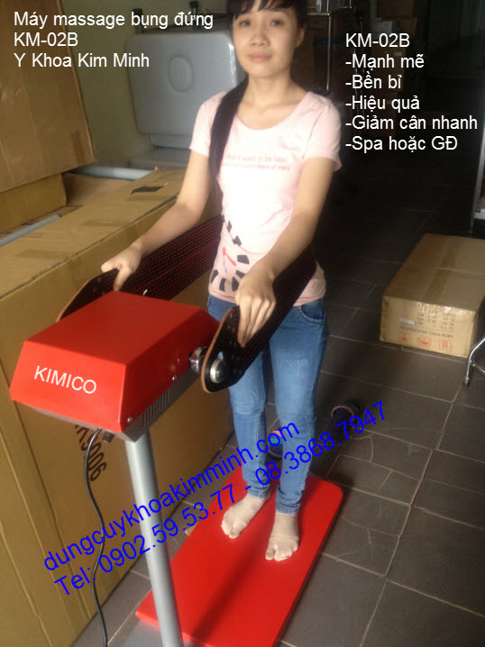 Máy massage bụng đứng giảm béo KM-02B Kim Minh