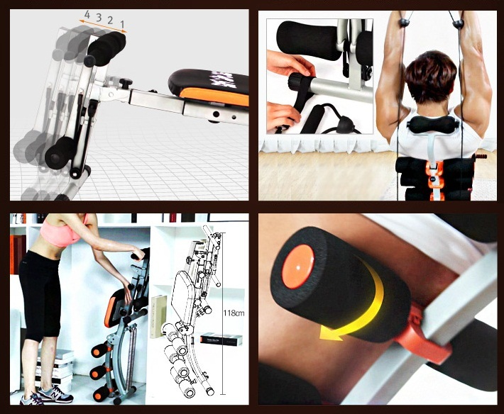 máy tập cơ bụng đa năng Total Fit