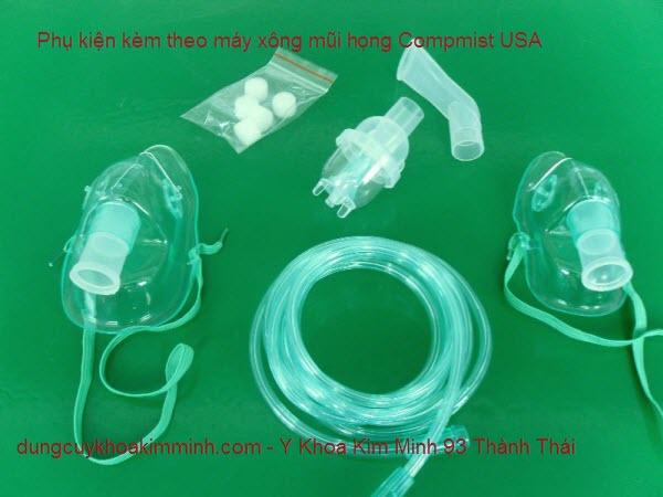 Phụ kiện kèm theo máy xông mũi họng compmist Y Khoa Kim Minh