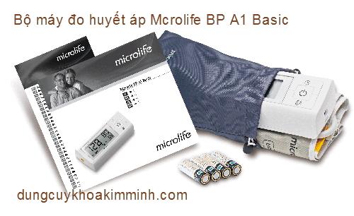 Bộ sản phẩm máy đo huyết áp Microlife BP A1 Basic