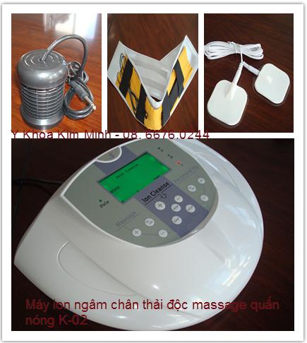 Máy ion ngâm chân thải độc massage xung điện K-02
