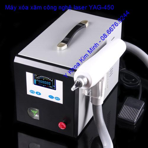 máy xóa xăm laser đời mới YAG-450