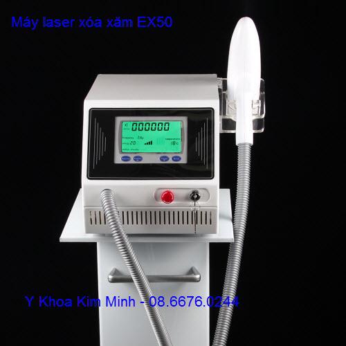 may xoa xam cong nghe laser tatoo YAG EX50