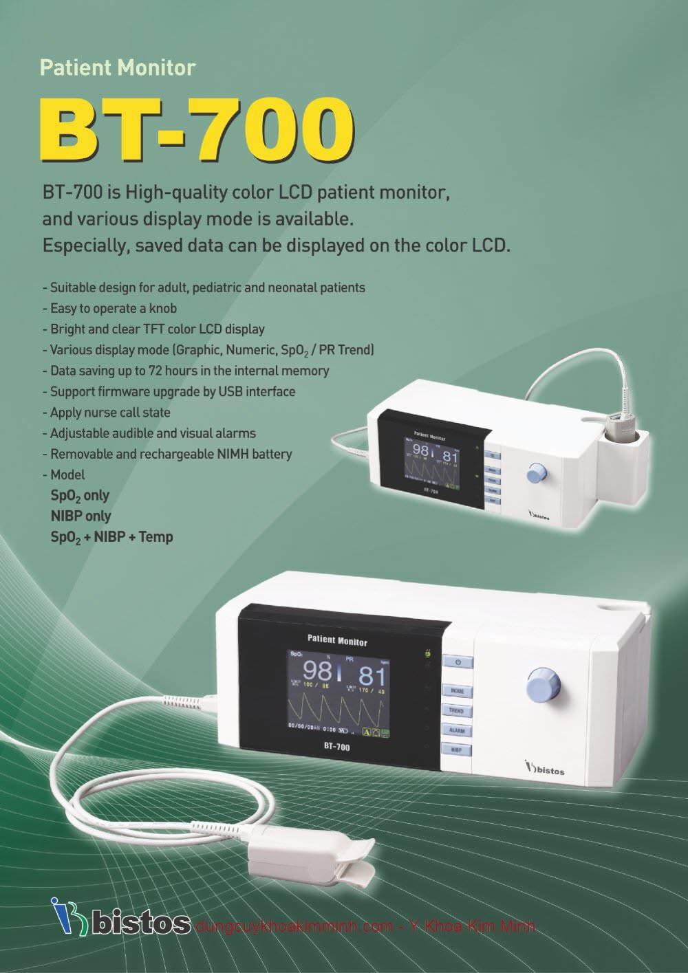 Màn hình monitor theo dõi bệnh nhân Bistos BT-700