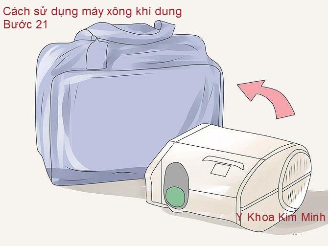 Máy phun khí dung: lưu trữ máy trở lại túi máy xông