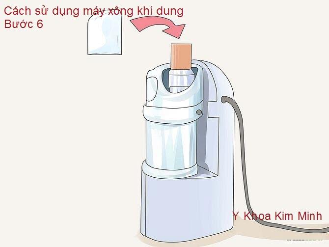 Sau đó nên vặn nắp bầu xông lại để thuốc thật an toàn